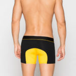 MEN'S LOW RISE CONTOUR POUCH SHORT BOXER BRIEFS UNDERWEAR – YELLOW