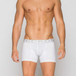MEN'S LOW RISE CONTOUR POUCH SHORT BOXER BRIEFS UNDERWEAR – WHITE