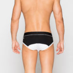 LOW RISE CONTOUR POUCH BRIEFS UNDERWEAR - BLACK
