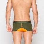 MEN'S LOW RISE CONTOUR POUCH TRUNKS BRIEFS UNDERWEAR – OLIVE