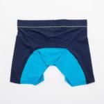 MEN'S LOW RISE CONTOUR POUCH LONG BOXER BRIEFS UNDERWEAR – BLUE