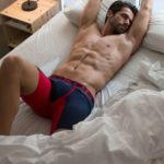 MEN'S LOW RISE CONTOUR POUCH LONG BOXER BRIEFS UNDERWEAR – RED