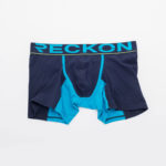 MEN'S LOW RISE CONTOUR POUCH SHORT BOXER BRIEFS UNDERWEAR – BLUE