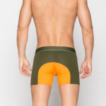 MEN'S LOW RISE CONTOUR POUCH SHORT BOXER BRIEFS UNDERWEAR – OLIVE