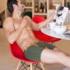 MEN'S LOW RISE CONTOUR POUCH SHORT BOXER BRIEFS UNDERWEAR – OLIVE