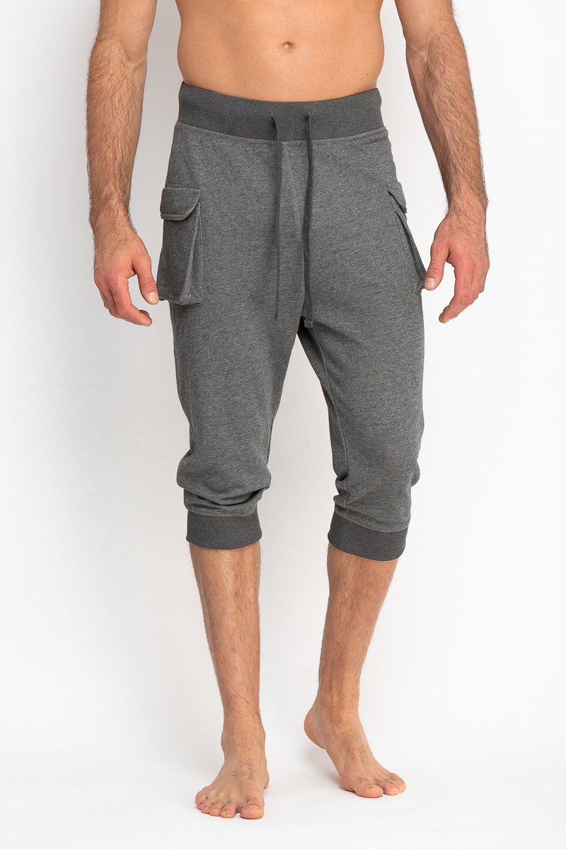 Cropped Pants w/ Cargo Pocket